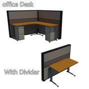 사무용 책상 3d model