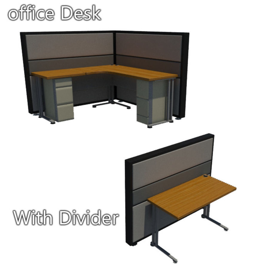 Ofis masası royalty-free 3d model - Preview no. 1