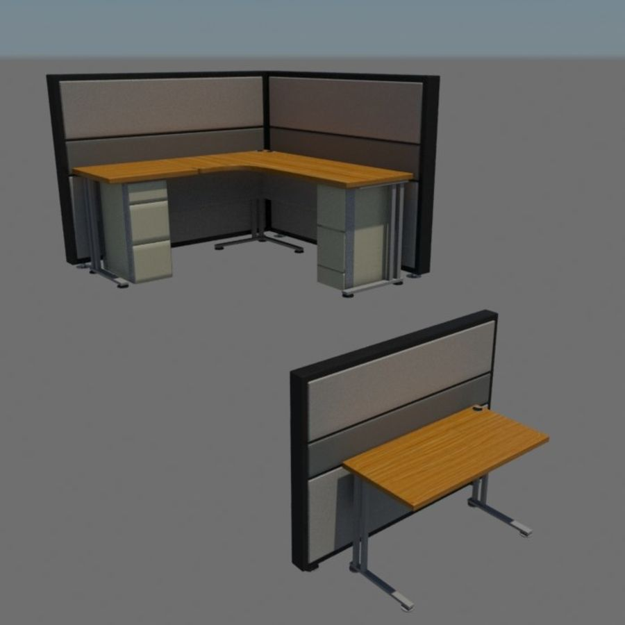Ofis masası royalty-free 3d model - Preview no. 2