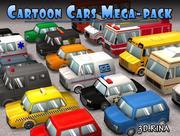 Cartoon Cars Pack 3d model