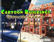 Costruttore di edifici dei cartoni animati 3d model