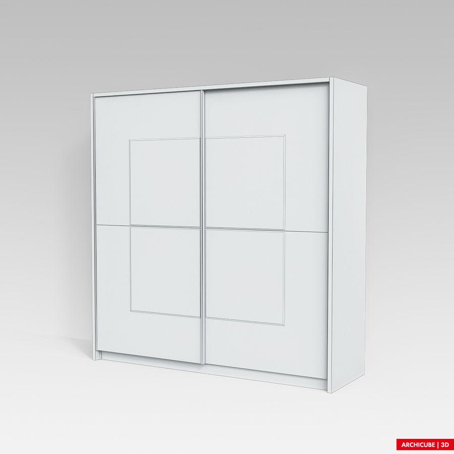 衣柜 royalty-free 3d model - Preview no. 8