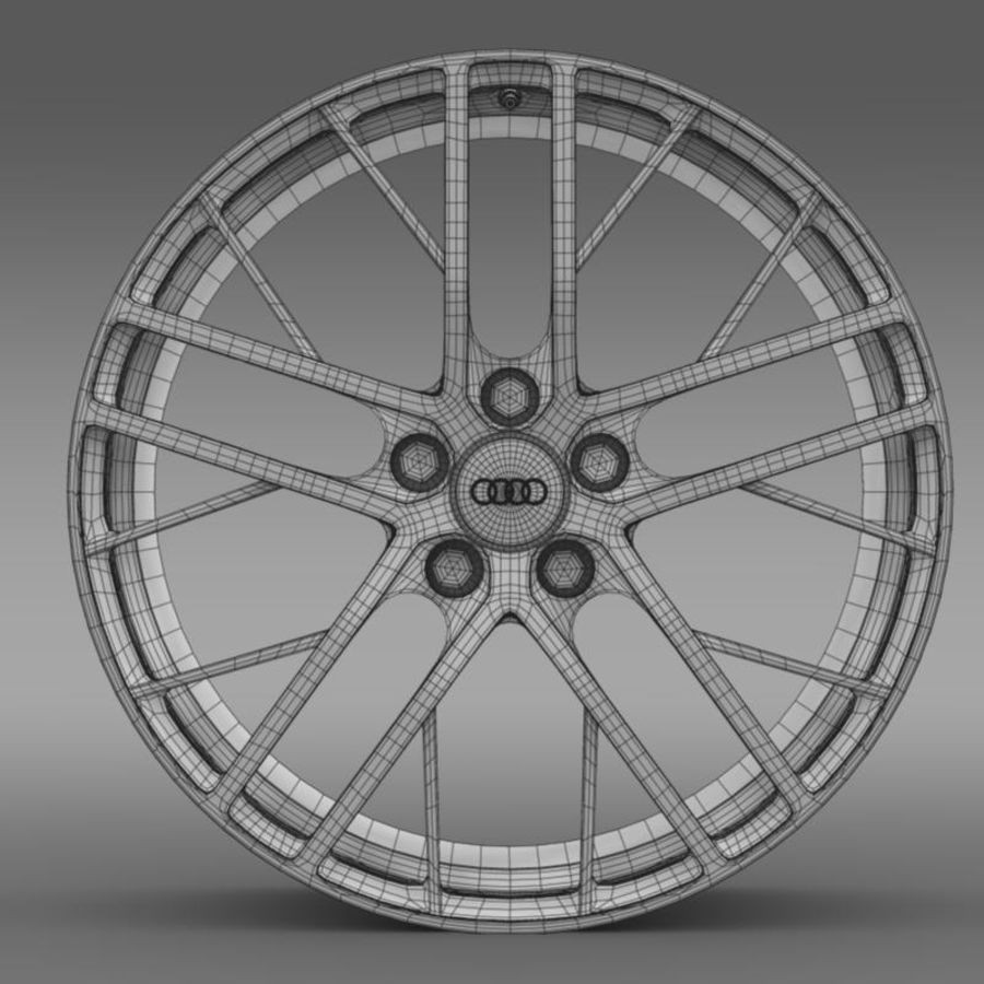 Cerchio Audi R8 LMX 2014 royalty-free 3d model - Preview no. 7