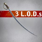 Ağır Süvari Kılıcı (3 LOD) 3d model