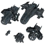 Low-Poly Game Ready Astra Starship Pack 1 3d model