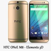 HTC One M8 Altın - Elementler 3D 3d model