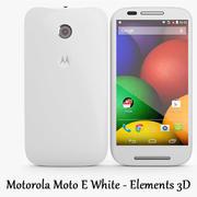 Motorola Moto E Beyaz - Elementler 3D 3d model