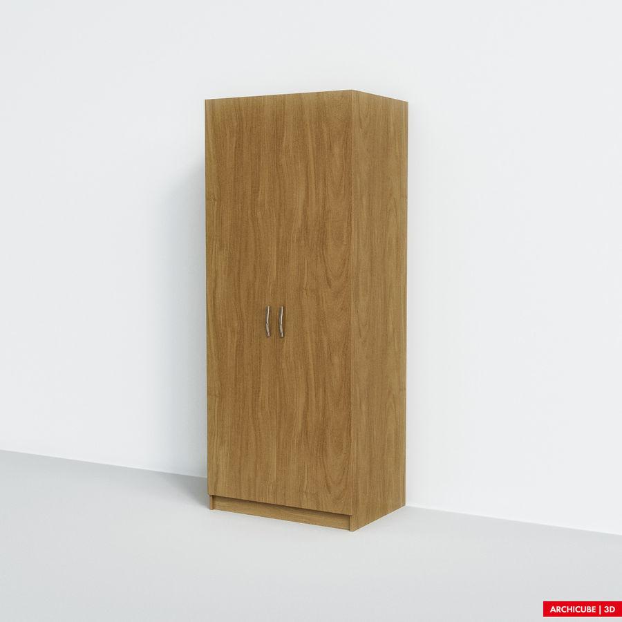 衣柜 royalty-free 3d model - Preview no. 3