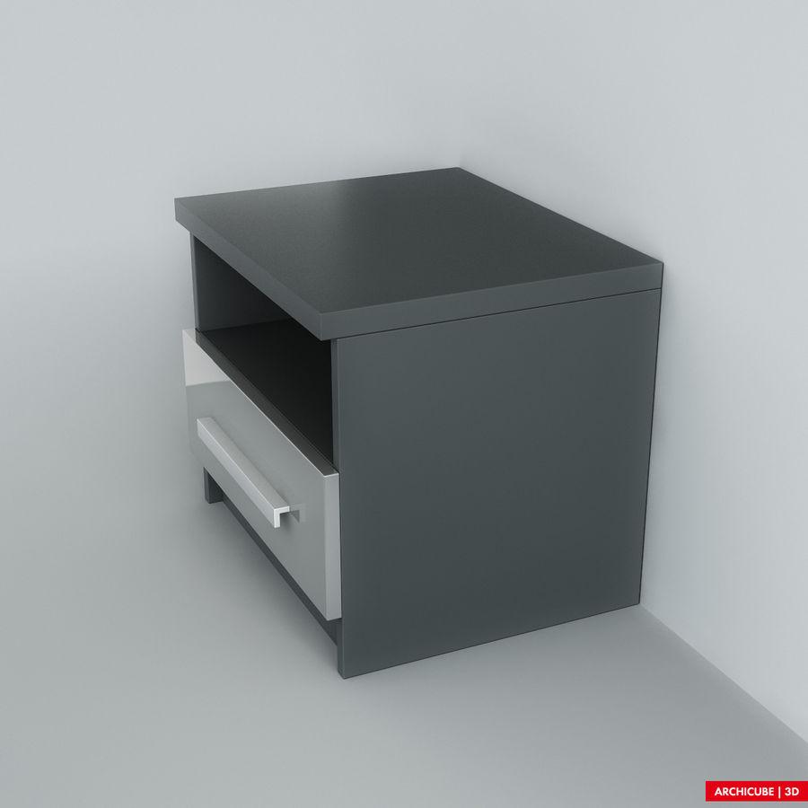 床头柜 royalty-free 3d model - Preview no. 4