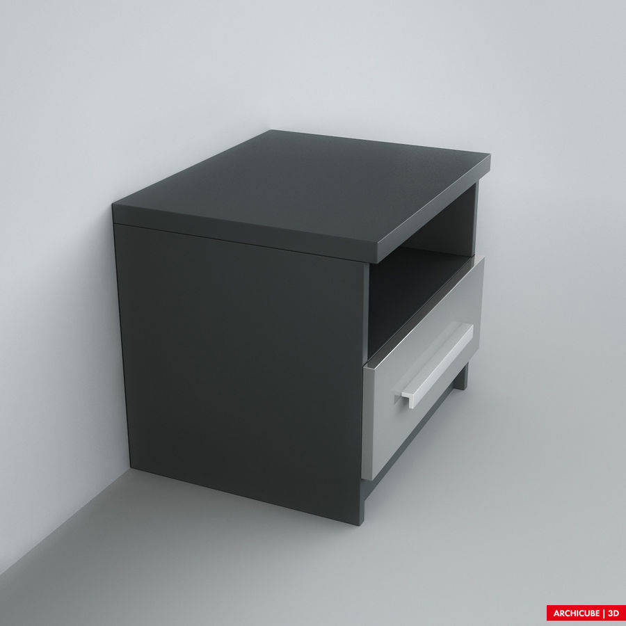 床头柜 royalty-free 3d model - Preview no. 2