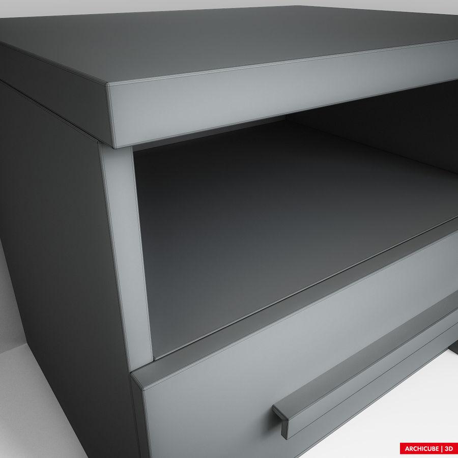 床头柜 royalty-free 3d model - Preview no. 10