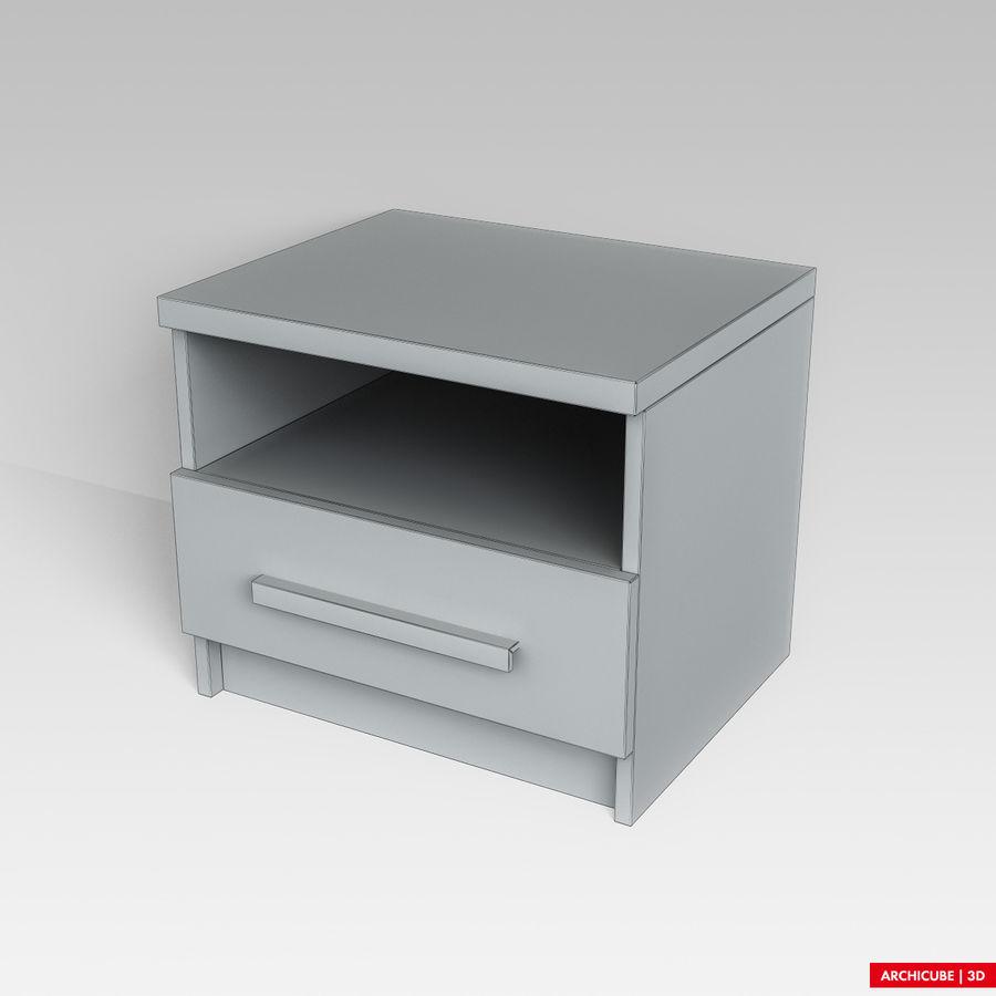 床头柜 royalty-free 3d model - Preview no. 8