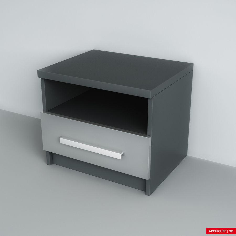 床头柜 royalty-free 3d model - Preview no. 3