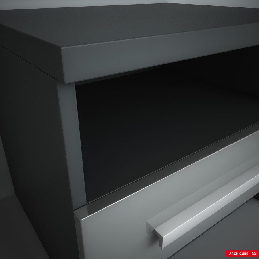 床头柜 royalty-free 3d model - Preview no. 5