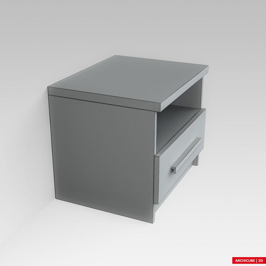 床头柜 royalty-free 3d model - Preview no. 7