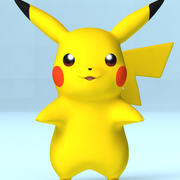 Pikachu Pokemon 3d model
