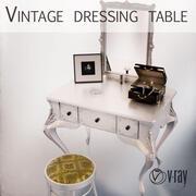 Toalettbord med smyckeskrin 3d model