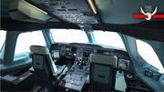 Airbus A380 cockpit high detailization 3d model