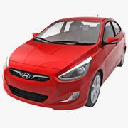 Car Hyundai Accent 2014 3d model