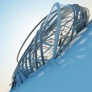 Structure architecturale futuriste 3d model