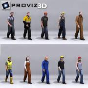 3D люди: гуляющие рабочие люди Vol. 02 3d model