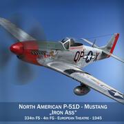 North American P-51D Mustang - Iron Ass modelo 3d