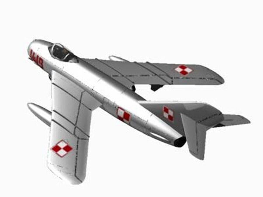 Mig 17 Polish royalty-free 3d model - Preview no. 3