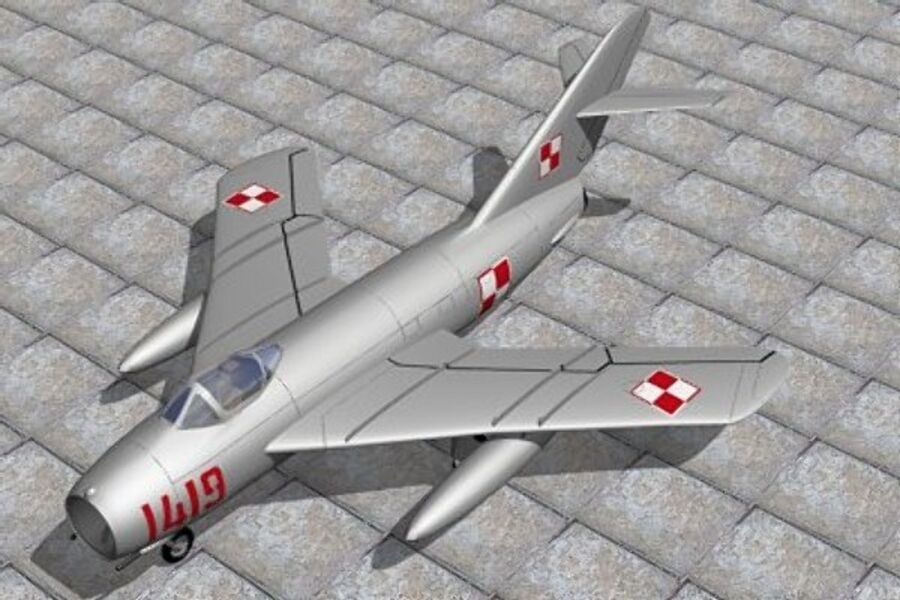 Mig 17 Polish royalty-free 3d model - Preview no. 1