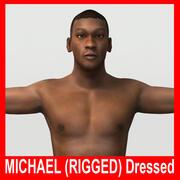 Michael (Rigged) (Nu e vestido) 3d model