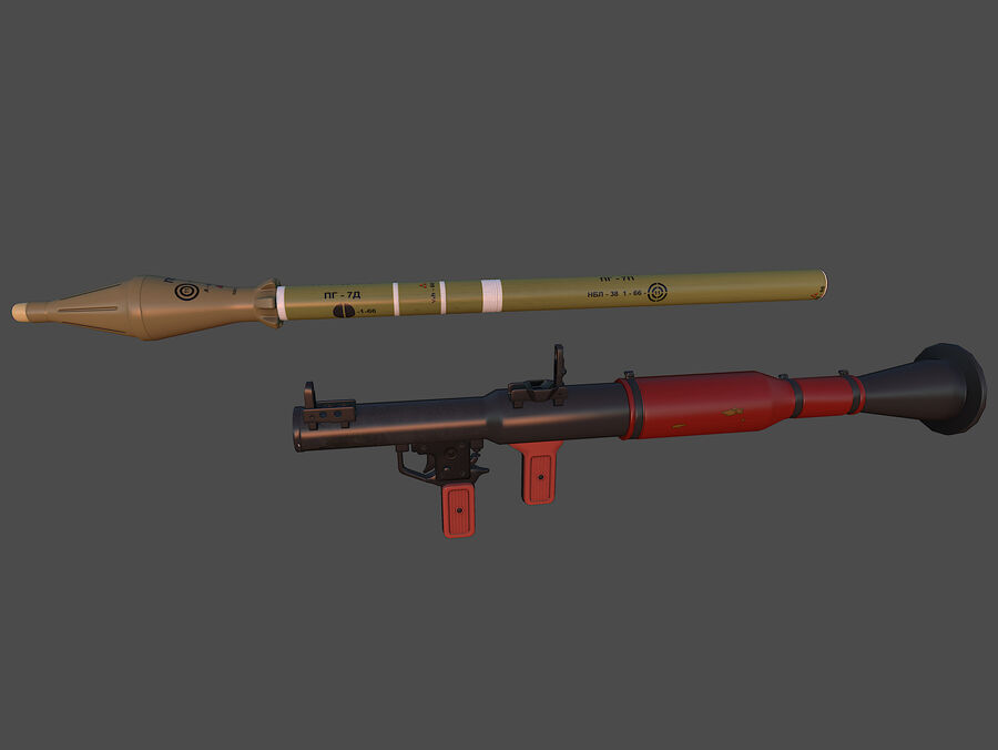 RPG-7 royalty-free 3d model - Preview no. 1