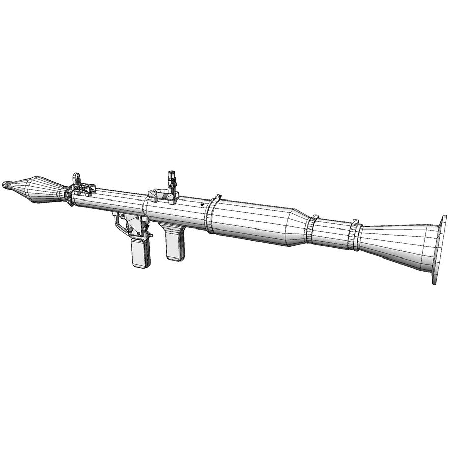 RPG-7 royalty-free 3d model - Preview no. 6