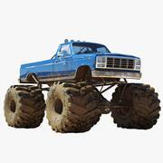 Monster Truck sporco 3d model