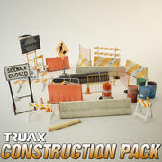 Pacote de adereços de construção 3d model