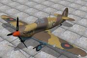 Hawker Hurricane IID 3d model