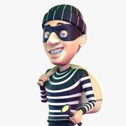 卡通小偷 3d model
