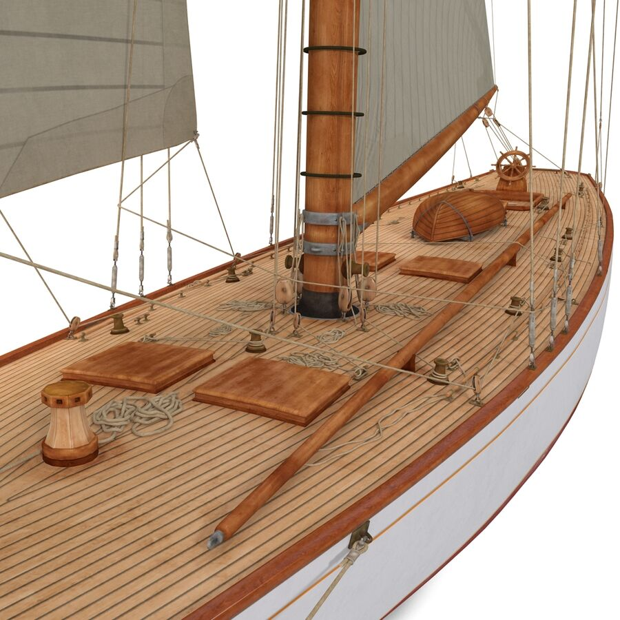 Segelboot royalty-free 3d model - Preview no. 15