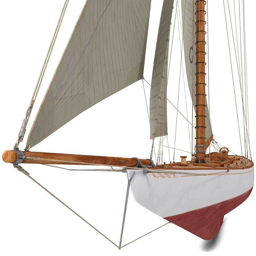 Segelboot royalty-free 3d model - Preview no. 13