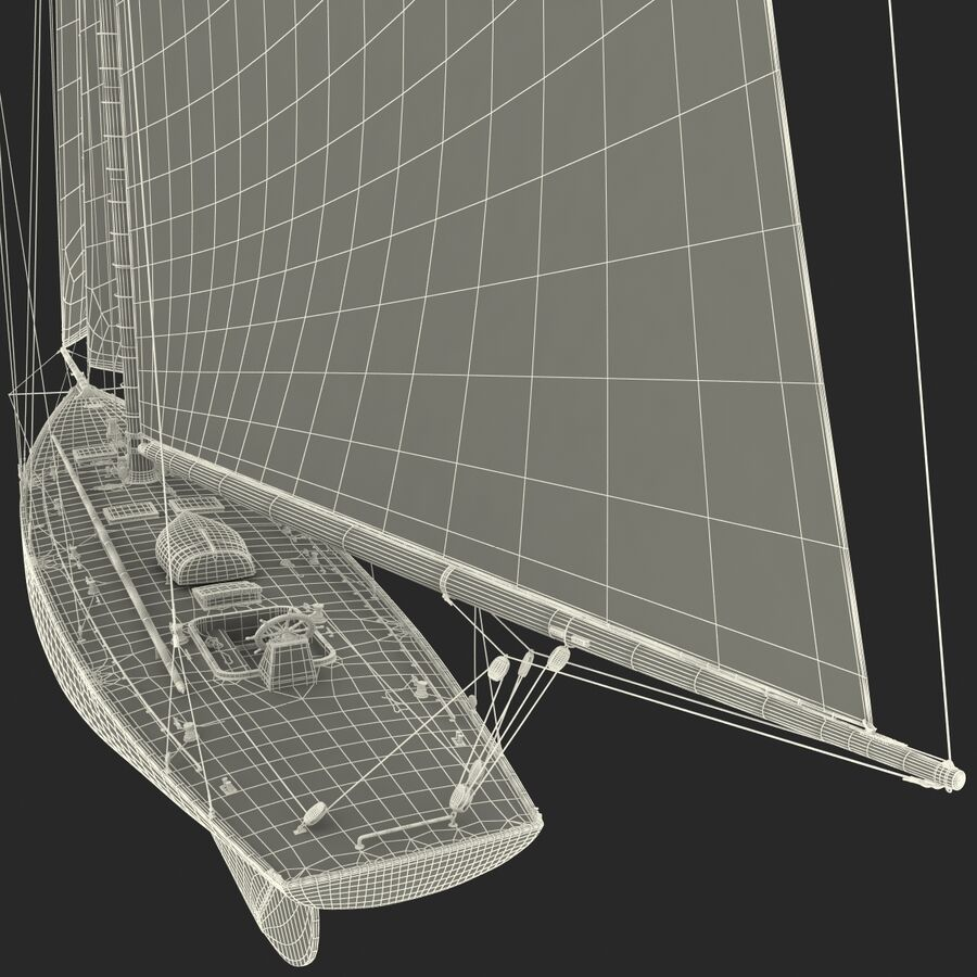 Segelboot royalty-free 3d model - Preview no. 41