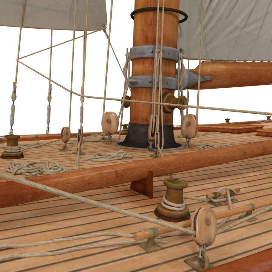 Segelboot royalty-free 3d model - Preview no. 18