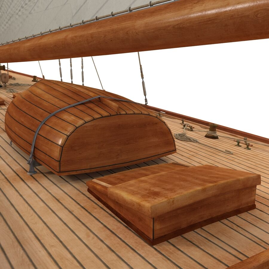 Segelboot royalty-free 3d model - Preview no. 24