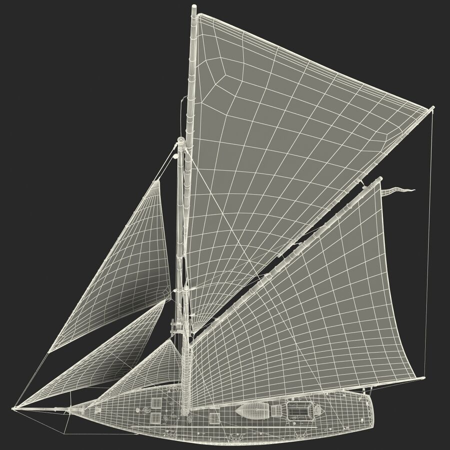 Segelboot royalty-free 3d model - Preview no. 40