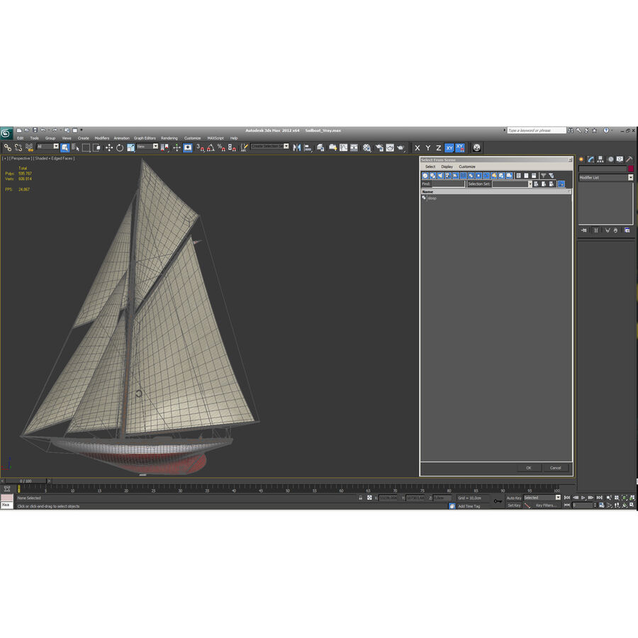 Segelboot royalty-free 3d model - Preview no. 57