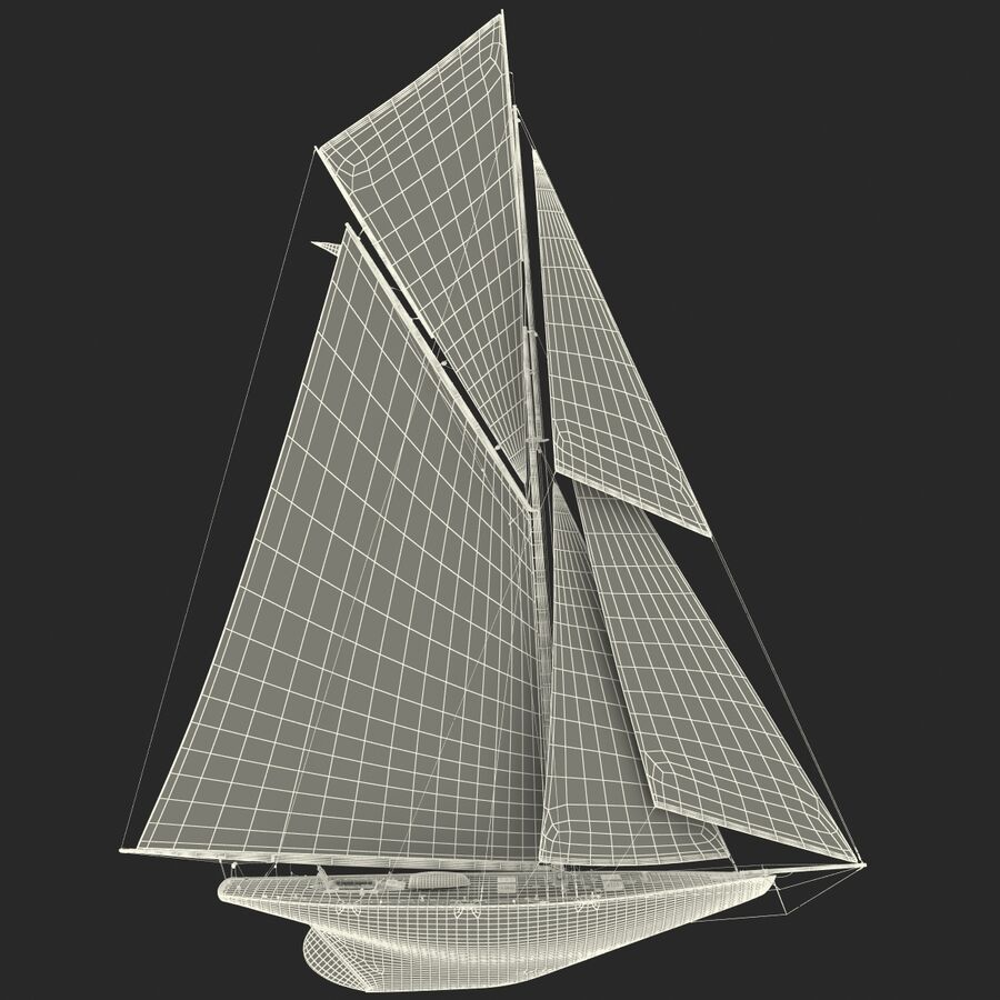 Segelboot royalty-free 3d model - Preview no. 39