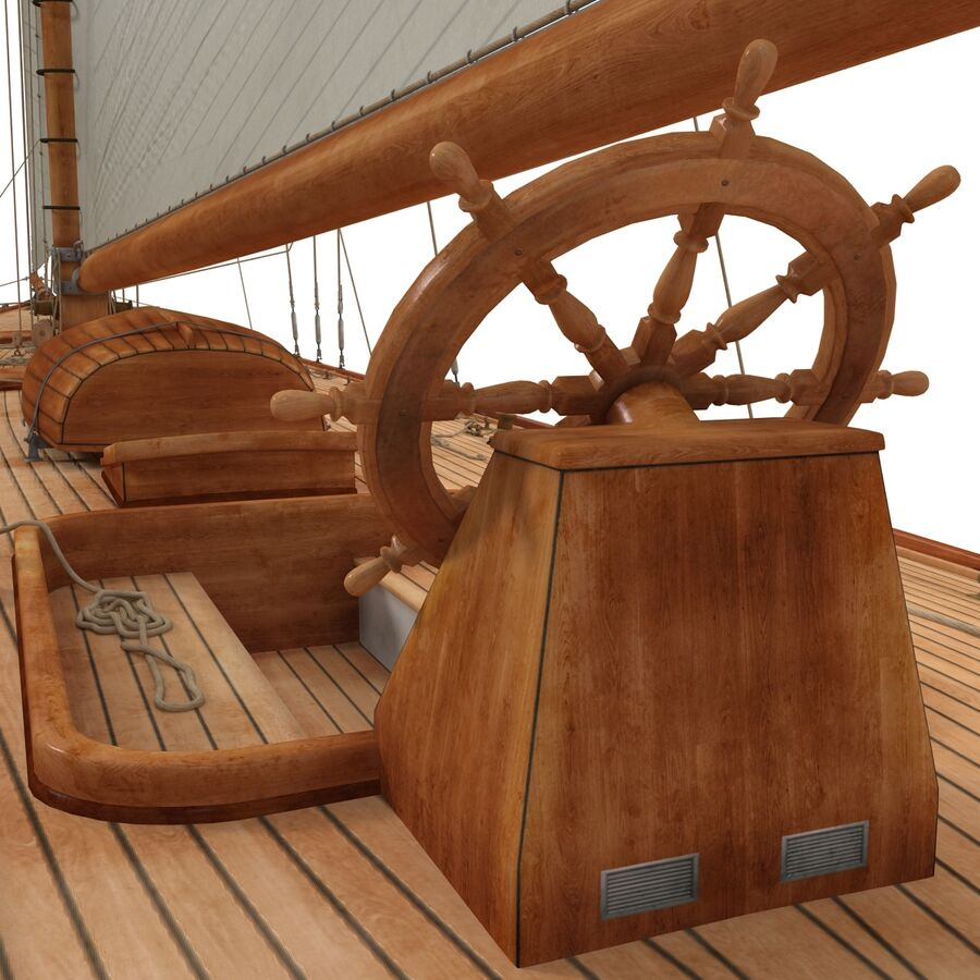 Segelboot royalty-free 3d model - Preview no. 26