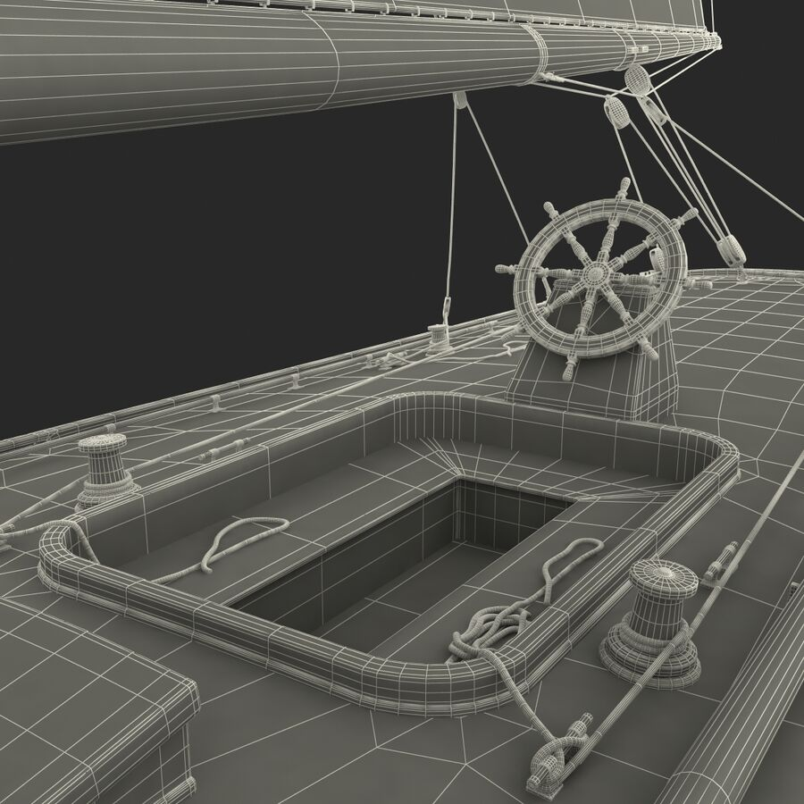 Segelboot royalty-free 3d model - Preview no. 49