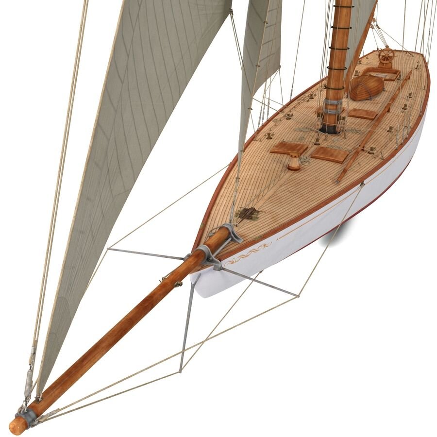 Segelboot royalty-free 3d model - Preview no. 14