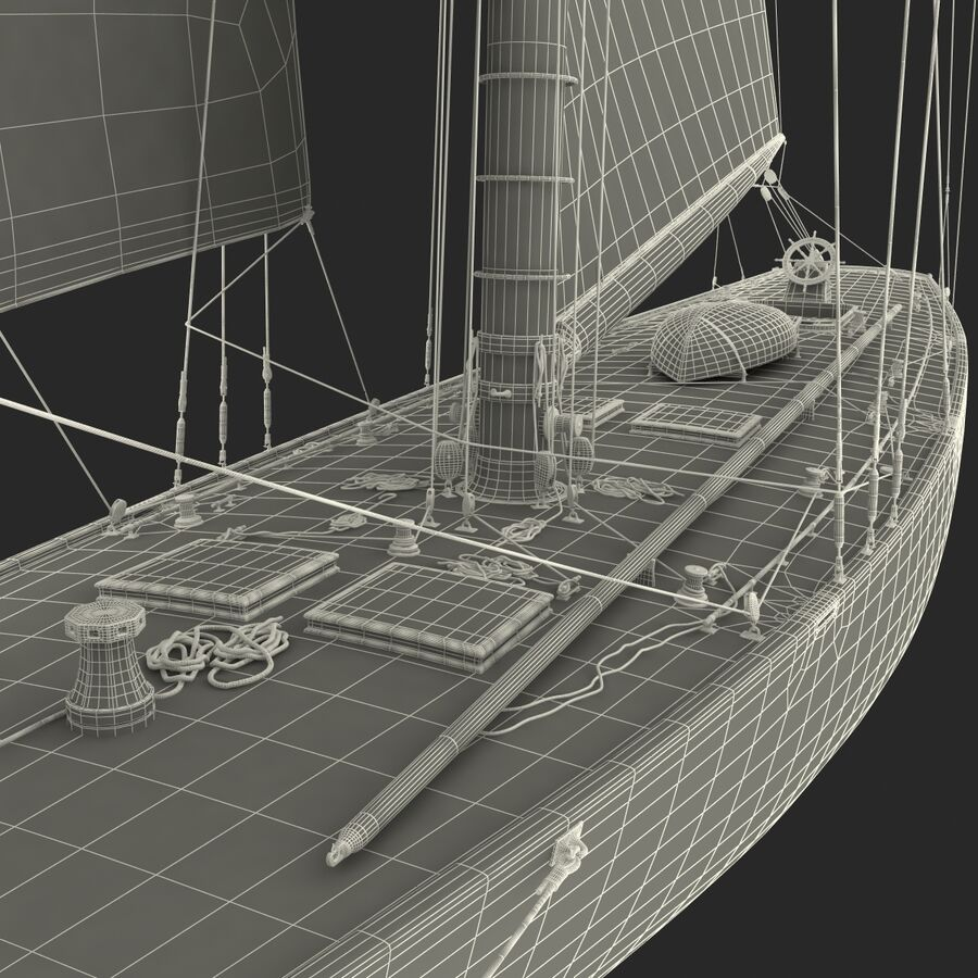 Segelboot royalty-free 3d model - Preview no. 45