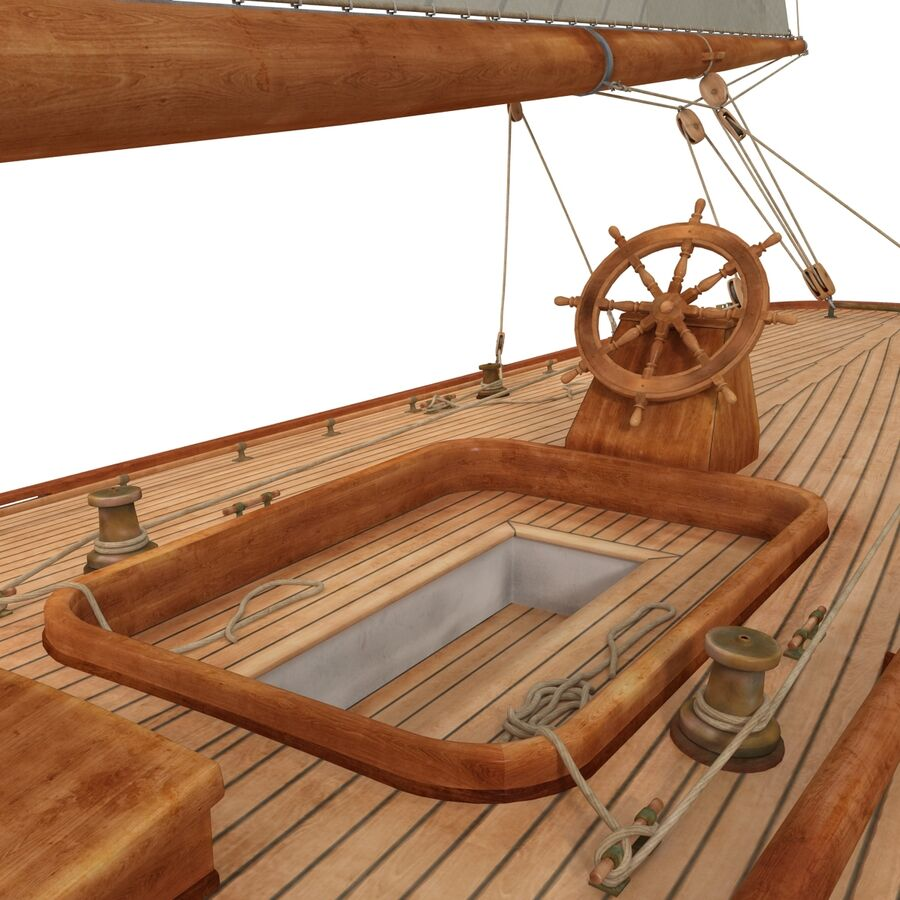 Segelboot royalty-free 3d model - Preview no. 23