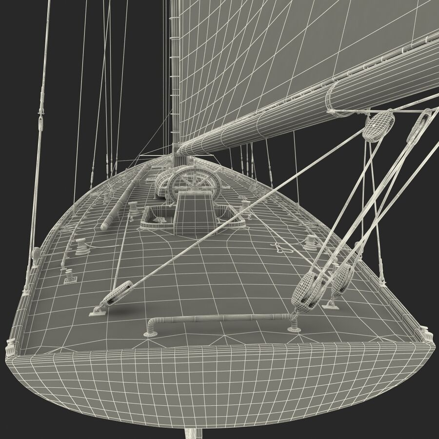 Segelboot royalty-free 3d model - Preview no. 42