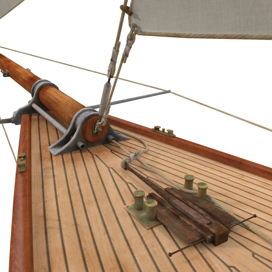 Segelboot royalty-free 3d model - Preview no. 17